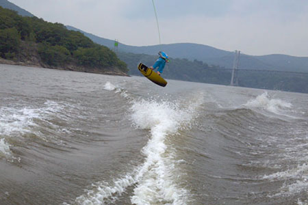 Wakeboarding on the Hudson River